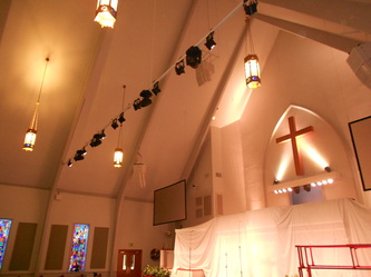 Fbc marble falls church stage lighting sound and for Lamp and light ministries